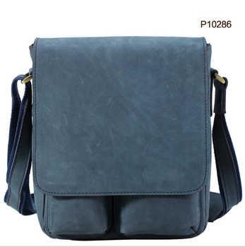 New Arrival England Men\'s Crazy Horse Genuine Leather Vintage Style Small Crossbody Chest Messenger Shoulder Bag Everyday Bag