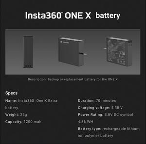 Image 3 - En Stock batterie dorigine pour Insta360 ONE X 1050mAh LiPo Batteries Insta360 ONE X chargeur Micro USB Qiuck chargeur de batterie Hub