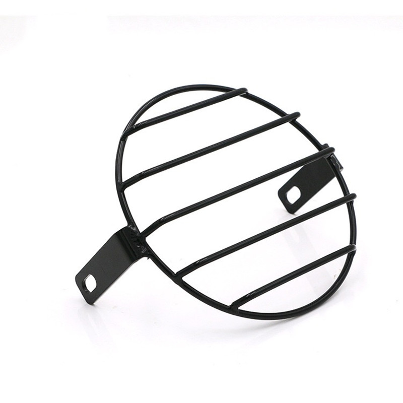 Image 4 - F 1016 Motorcycle accessories headlight net cover GN125 retro black shell round headlights CG125 refit retro headlights