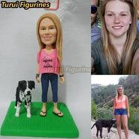 Turui фигурки пользовательские миниатюра из фото лицо изображение с питомец куклы для подруги подарок жене подарок Подарок на годовщину свад