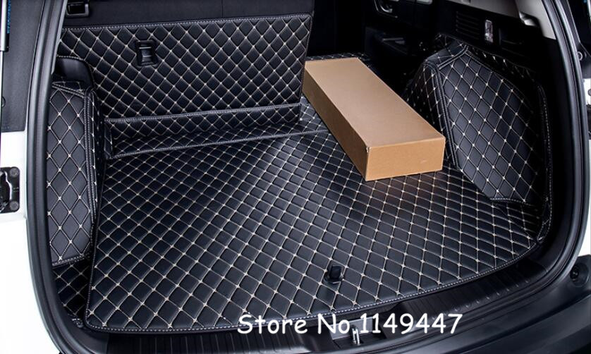 For 5 seater! Black Interior Leather Rear Boot Cargo Trunk Mat Pad For Honda CRV CR-V 2017 2018 for honda crv cr v 2017 2018 auto trunk liner rear cargo boot mat 3d floor tray carpet mud pad waterproof protector car styling