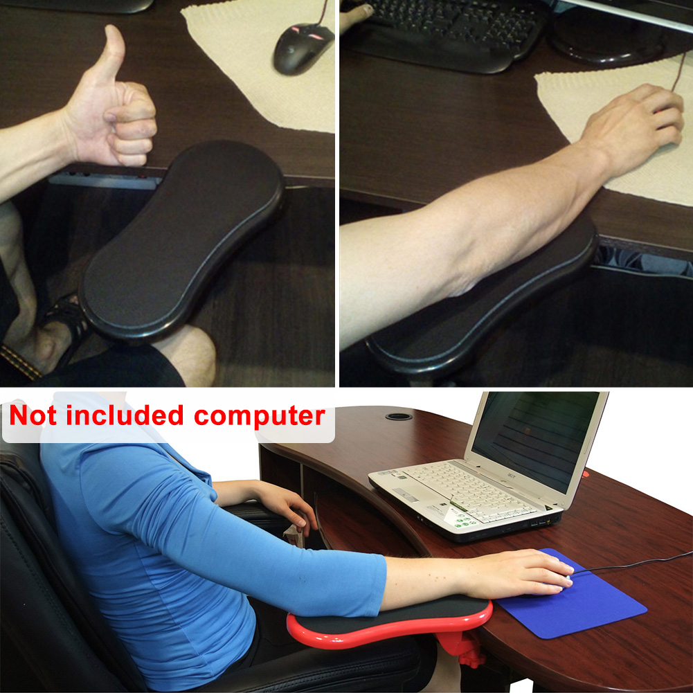 ABS+memory Foam Office Chair Wrist Rest Rotatable Easy Install Mouse Pad Desk Attachable Computer Table Arm Support Plate