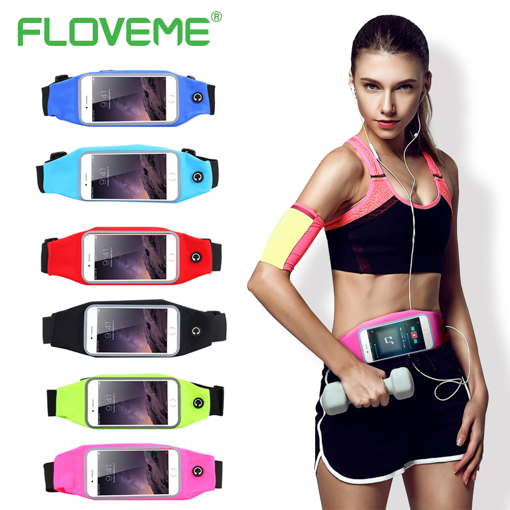 FLOVEME 5.5 Sport Waist i6 i6S i7 Plus Phone Case For iPhone 6 6S Plus 7 Universal Pouch Bags For iPhone7 iPhone6 iPhone6S Plus