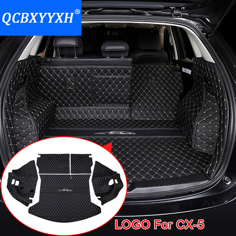 For Mazda CX-5 2017 2018 Car Boot Mat Rear Trunk Liner Cargo Floor Carpet Tray Protector Accessories Sticker Dog Pet Cover