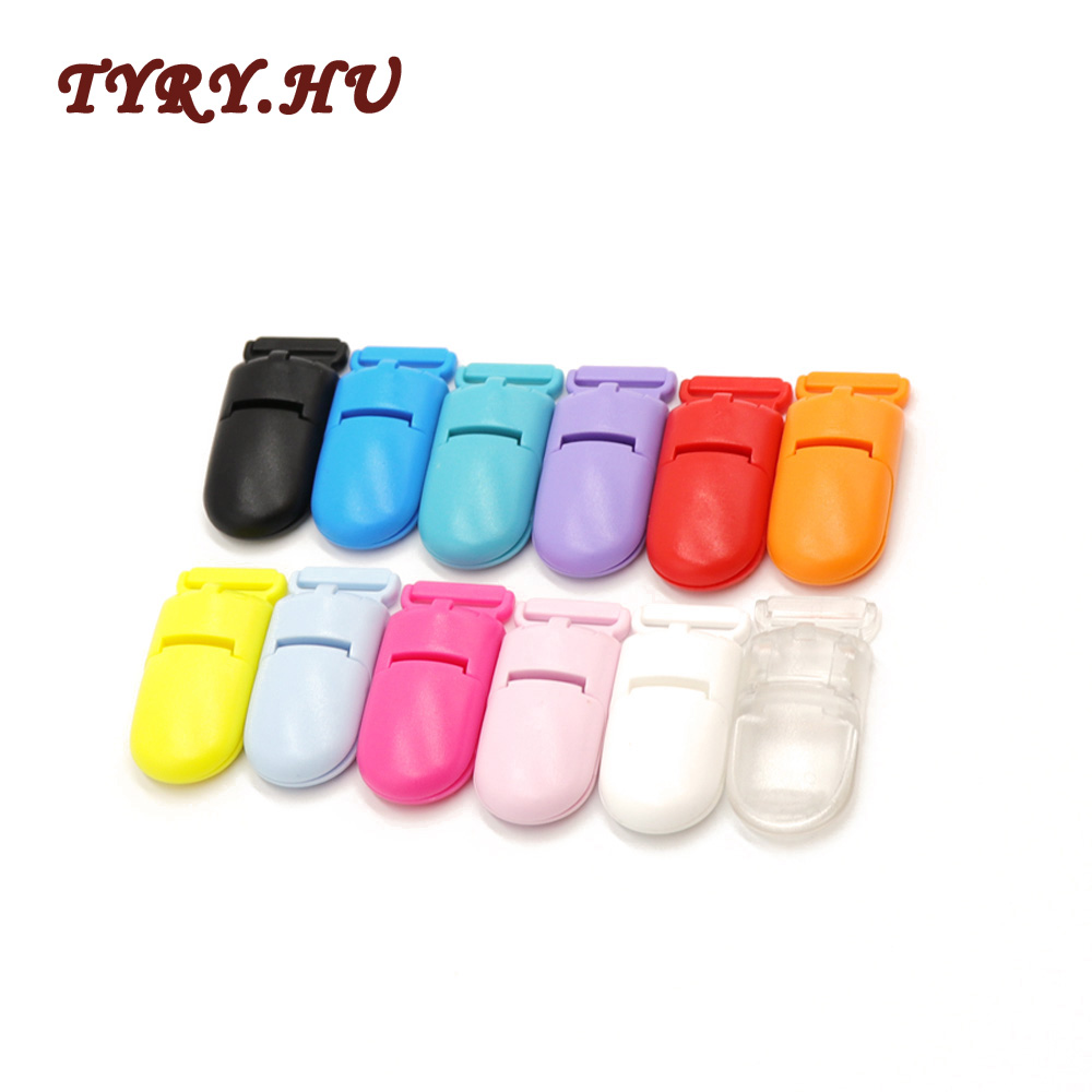 TYRY.HU 10pcs Plastic Baby Pacifier Clips Transparent Pacifier Clips Soother Holder For Baby Pacifier Nipples Holder Round Clamp