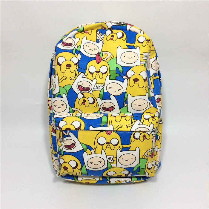 Anime Adventure Time Cartoon canvas shoulder bag middle school student bag male and female campus backpack birthday gift