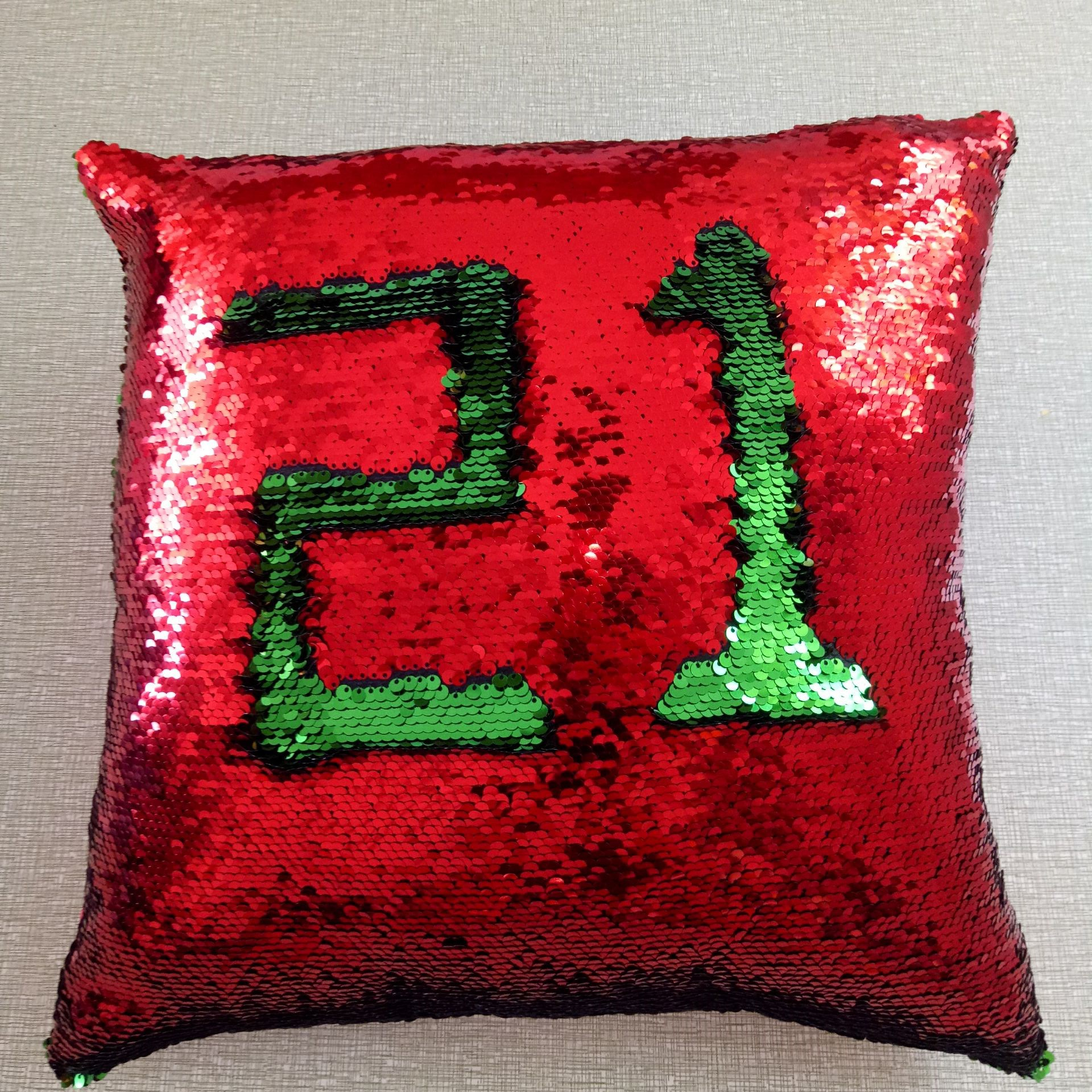 sequins pillowcase for two-color sequin pillow mermaid magic DIY cushion pillowcase onely covers (no Core)