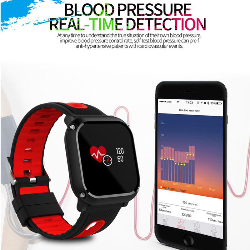 Good Birthday Gift Band For Friends Color Screen Smart Band Message Reminder IP68 Waterproof Heart Rate Monitor Health Tracker