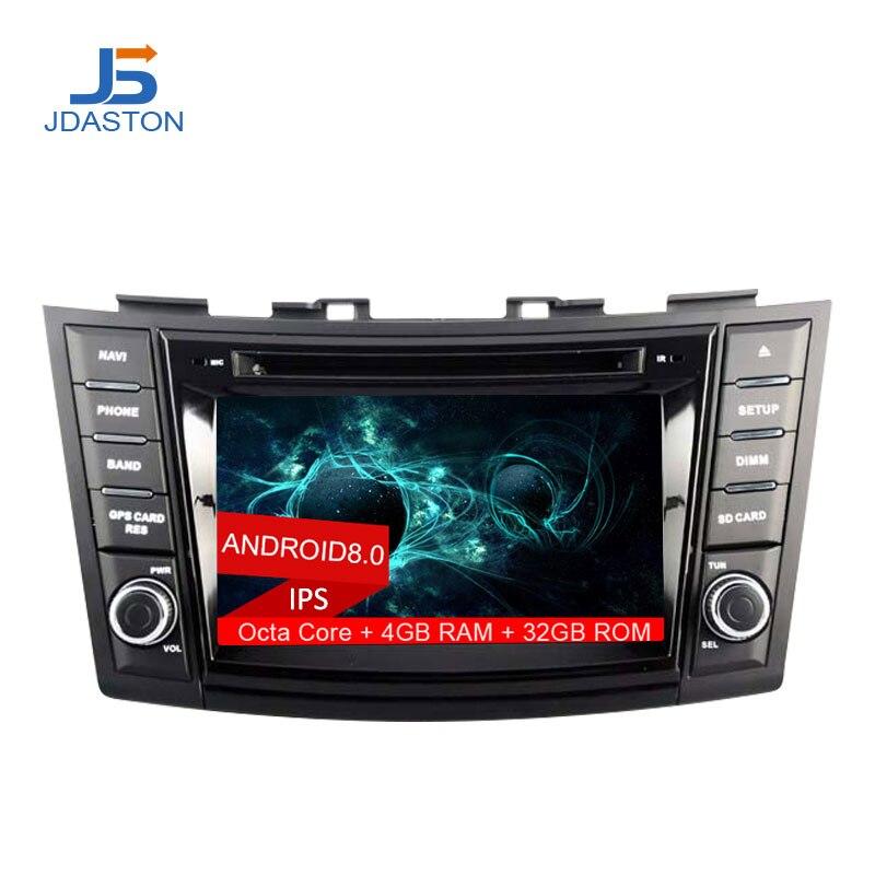 JDASTON 2DIN Android 8.0 Car DVD Player For SUZUKI SWIFT 2011 2012 2013 2014 2015 Multimedia GPS Radio Stereo 4G+32G Octa Cores