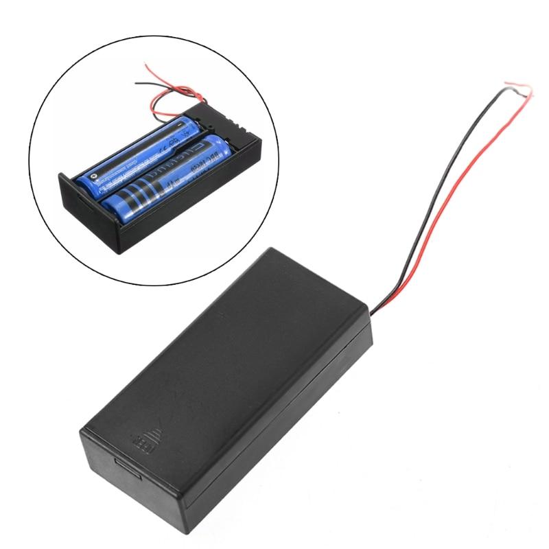 Fielect 2 x 18650 Battery Storage Case Holder Organizer Box Transparent 3Pcs