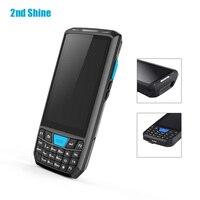 Scanner de Código Barras Bluetooth Wi fi Android 5 1 Inteligente 1D 2D 4g  Coletor Dados Leitor código PDA Portátil Sem Fio