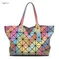 BAO BAO 3D rainbow Casuais grandes sacolas para as mulheres geometria Acolchoado Dobrável ladies famoso designer bolsas Bolsa Feminina