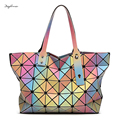 BAO BAO 3D rainbow Casual large tote bags for women geometry Quilted Foldable ladies famous designer handbags Bolsa Feminina