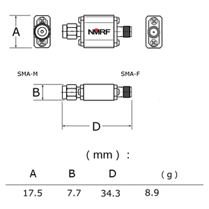 Image 3 - 433 433mhz のリモートコントロール航空機モデル空中画像伝送バンドパスフィルタ 433 メートル帯域幅 8 MHz