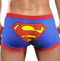 Ropa Interior de los hombres de Baja altura Calzoncillos Boxers de Algodón Lindo de la Historieta de Superman Para Hombre Cuecas Shorts Barato Al Por Mayor de La Venta Caliente PJ2014