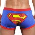 Roupa Interior dos homens Low-rise Cuecas Boxers Para Homem Cuecas de Algodão Bonito Dos Desenhos Animados Superman Shorts Por Atacado Barato Venda Quente PJ2014