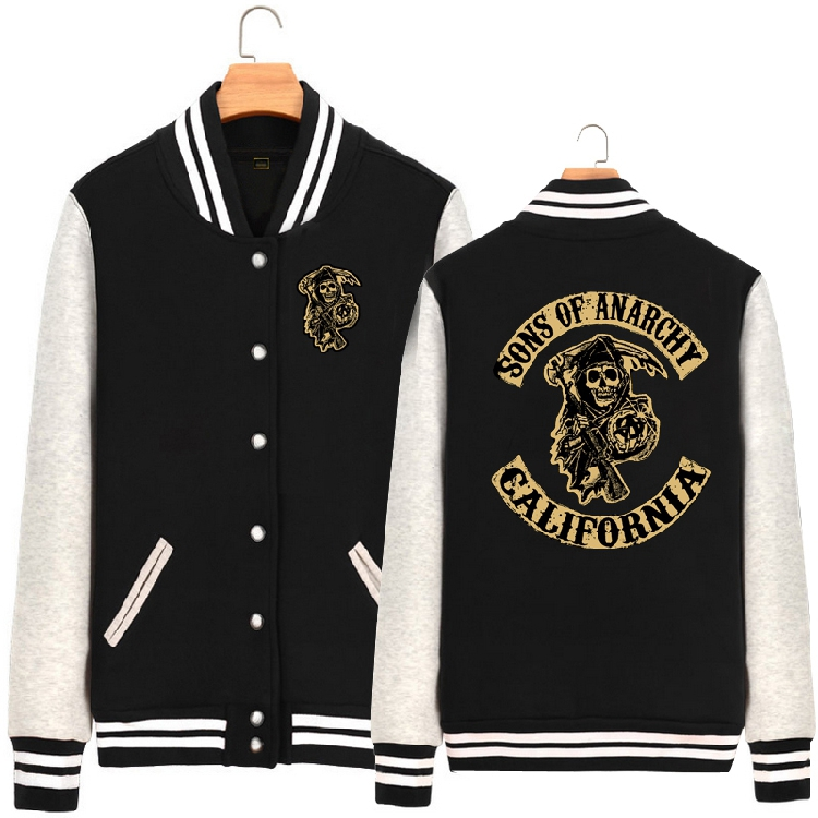 2016 new winter SOA Sons of annrcy chaos son thickened baseball shirt cardigan men and women