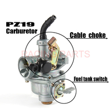 Motorcycle PZ19 19mm Carb Choke Carburetor For 50cc 70cc 90cc 110cc Quad ATV SUNL Kazuma with fuel tank cap