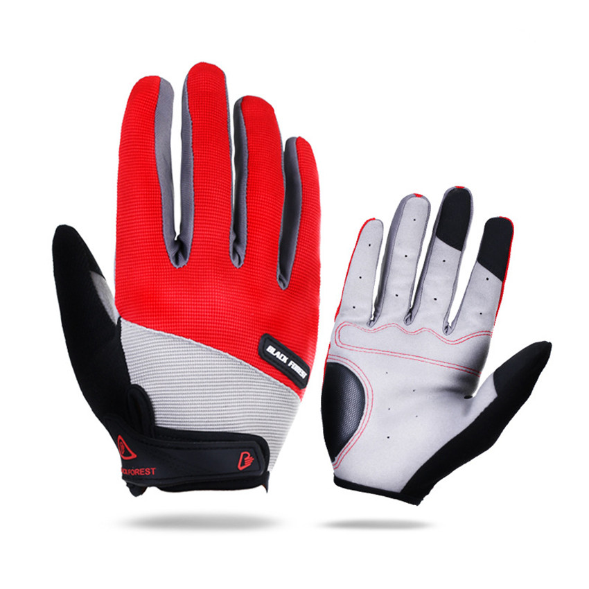 Men Women's Full Finger Cycling Gloves Bike Bicycle Touch Screen Shockproof Automotive Long Cycle Glove Sport Breathable giyo touch screen non slip breathable long gloves bike bicycle cycling cycle full finger ciclismo luvas gloves smartphone