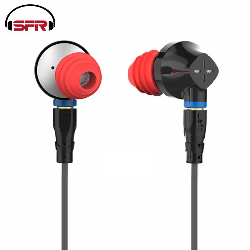 SENFER DT6 1BA+1DD+Ceramic Piezoelectric Hybrid 3 Drive Unit In Ear Earphone DJ HIFI Metal Earphone With Detachable Detach MMCX locket