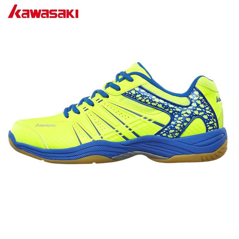 Kawasaki, zapatos de bádminton profesionales genuinos para hombre y mujer, zapatillas deportivas de interior, calzado deportivo transpirable resistente al desgaste, K-062