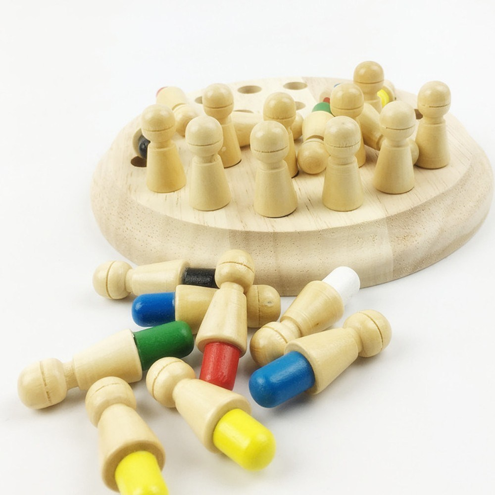 MamimamiHome Waldorf Toy Wooden Blocks Montessori Materials Baby Wooden Toys Memory Chess For Children Kids Beads