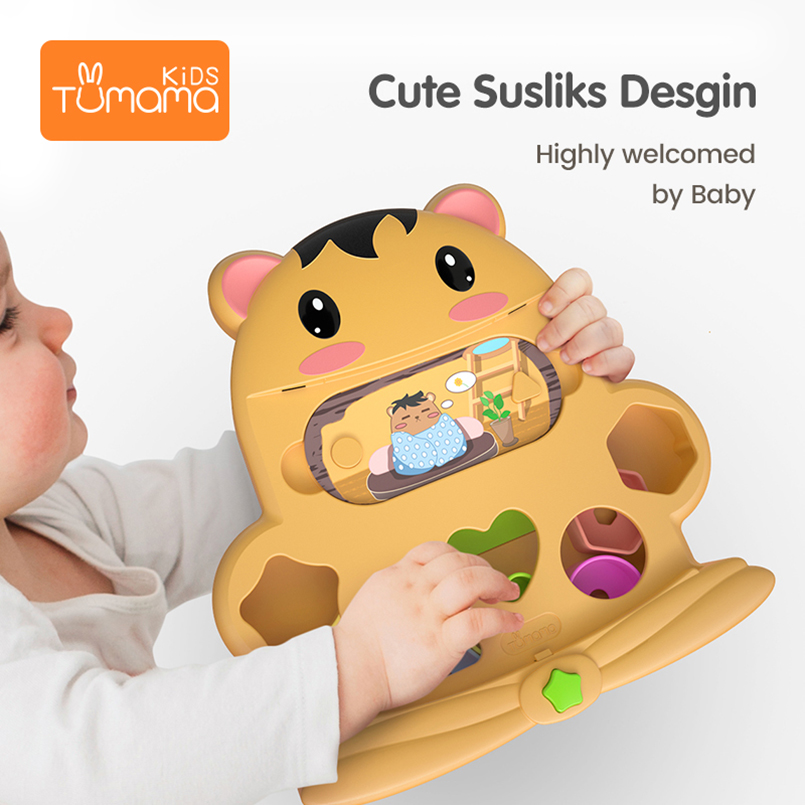 Discreet Tumama Shape Toys 23.3x23.5cm Gophers Montessori Toys For Children Educational Abs Sensory Toys With Story Card For Unisex Baby Buy One Give One Toys & Hobbies Color & Shape