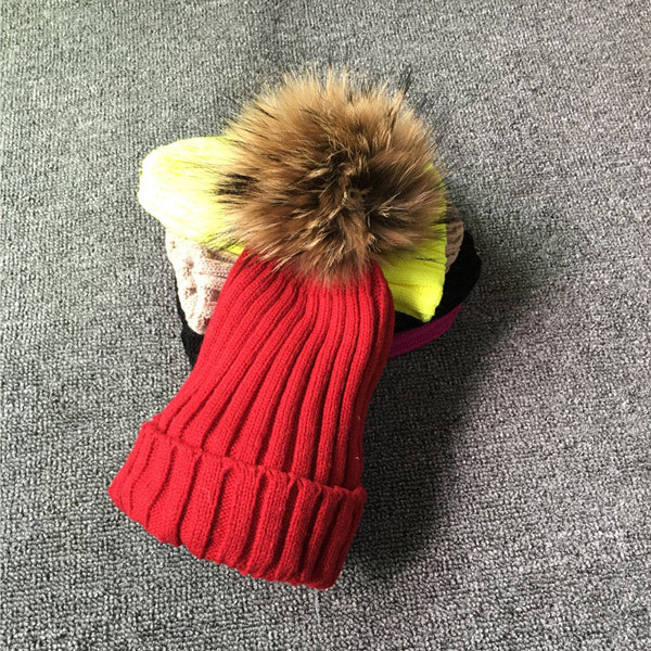 Winter Brand Female Fur Pom Poms hat Winter Hat For Women Girl 's Hat Knitted Beanies Cap Hat Thick Women Skullies Beanies