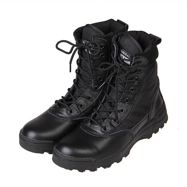 Новый Спорт Army Men Combat Tactical Сапоги Открытый Туризм Пустыня Кожаные Лодыжки Военные Сапоги Мужские Военные Обувь Botas Хомбре O1480