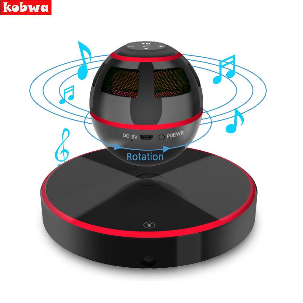 Levitating Bluetooth Speaker Portable Floating Wireless Speaker Bluetooth 4.0 360 Degree Rotation Built-in Microphone Maglev 2017 hot levitating jh angel of music fd19 portable wb 46 wireless bluetooth speaker with microphone for iphone and pad