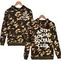 Anti Social Club Camo Hoodie Men Sweatshirt Military Camoufalge Hooded Coat Anti Social Social Club Costume high quality