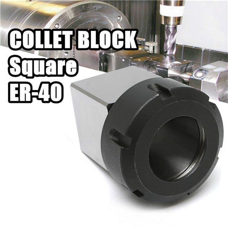 Square ER40 Collet Chuck Block Holder 3900 5125 For CNC Lathe Engraving Machine Cross Hole Drilling