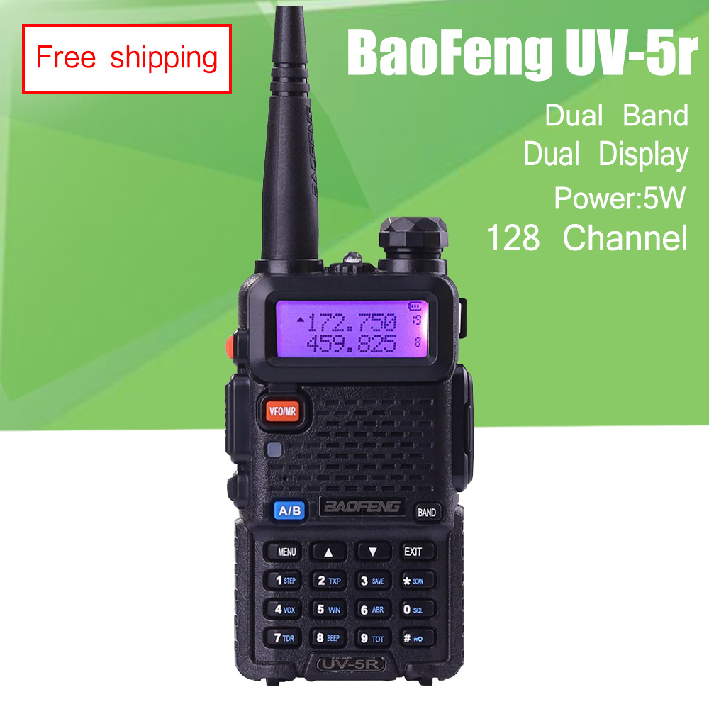 BAOFENG UV-5R Walkie Talkie Dual Band 136-174 Mhz & 400-520 Mhz Baofeng UV5R 5 Watt handheld funkgeräte Communicator Transceiver