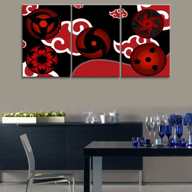 3 Panel NARUTO Sharingan Animation Canvas Printed Painting For Living Room  Picture Wall Art HD Print Decor Modern Artwork Poster Part 66