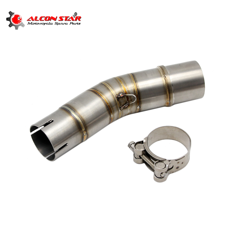 Alconstar- Stainless Steel Motorcycle <font><b>Exhaust</b></font> Muffler Middle Pipe Header Tube For <font><b>Suzuki</b></font> <font><b>GSX250R</b></font> <font><b>Exhaust</b></font> Pipe Slip On image