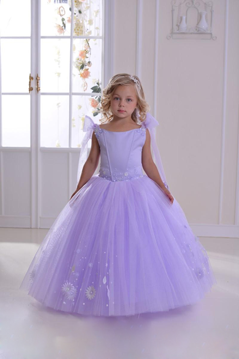 Lavender Toddler Flower Girl Dresses 89