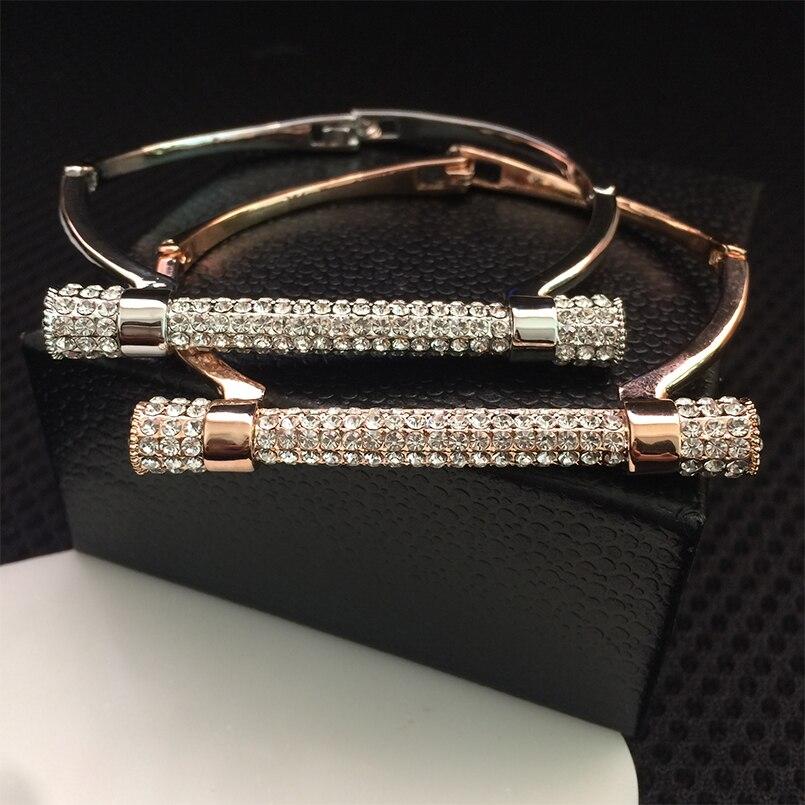 D del metallo di figura del braccialetto del polsino bileklik crystal bangle gioielli di lusso A Ferro di Cavallo bracciali e braccialetti brazaletes pulseras mujer