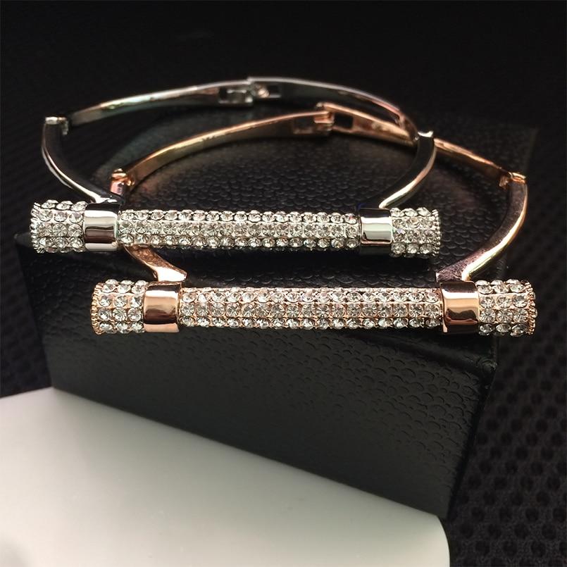 D shape metal bracelet cuff bileklik crystal bangle luxury jewelry Horseshoe bracelets & bangles brazaletes pulseras mujer
