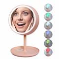 180 Градусов Вращения Регулируемый Макияж Косметическое Зеркало Стенд Лампы Аккумуляторная 2-в-1 LED Красочный Свет Рабочего Стола Кровать Лампы