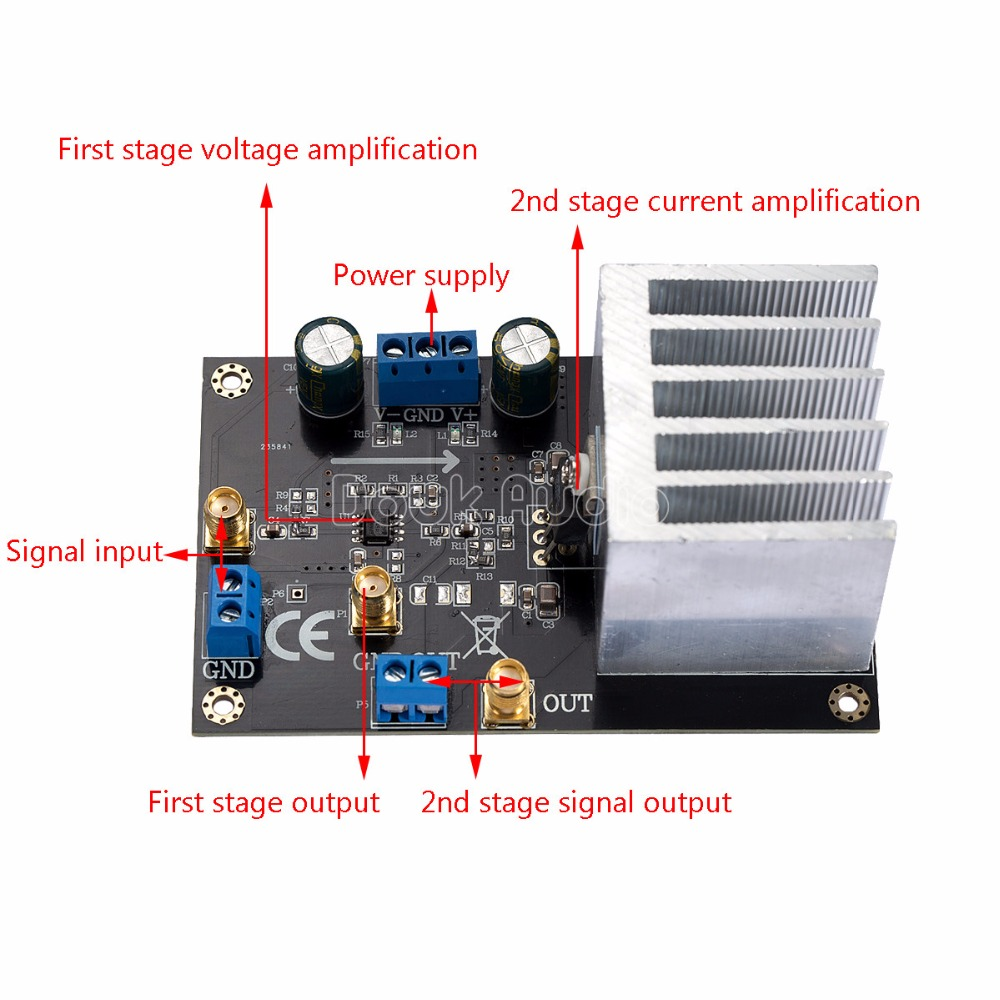 Tube Power Amplifier With El34 8211 35w Opa544 Module High Voltage Current Amp 68v Peak Motor Drive In From Consumer Electronics On Alibaba Group