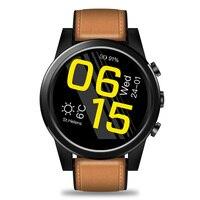 Для Zeblaze 1 + 16 ГБ кожаный ремешок USB Перезаряжаемый шаг счетчик часы телефонный звонок подарок бизнес Смарт часы четырехъядерный Bluetooth