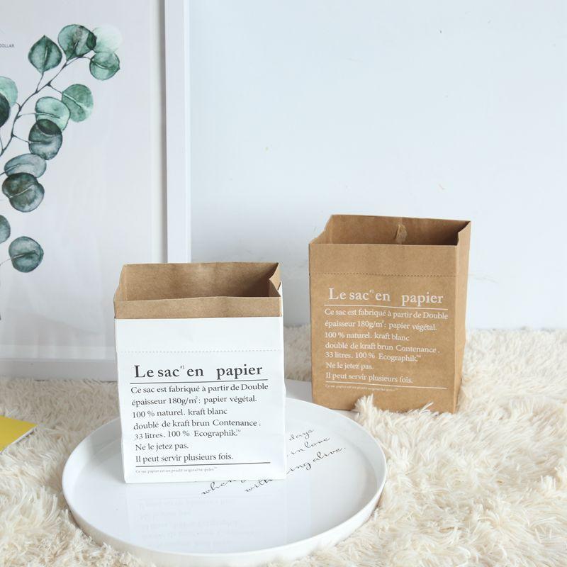 Nordic Style Vase Mini Storage Kraft Paper Bag Home Flower Arrangement Wedding Floral Main Sundries Dried Storage Bag Paper Bag