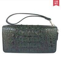 Yongliang новый старый крокодил двойная молния руки мешок кожаный кошелек сцепления назад Властного большой Аутентичные