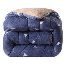 Утолщенное зимнее одеяло, имитирующее овечья шерсть, теплое постельное одеяло camoFleece, одеяло AB, сторона верблюда, лоскутное одеяло, домашний текстиль, фланель
