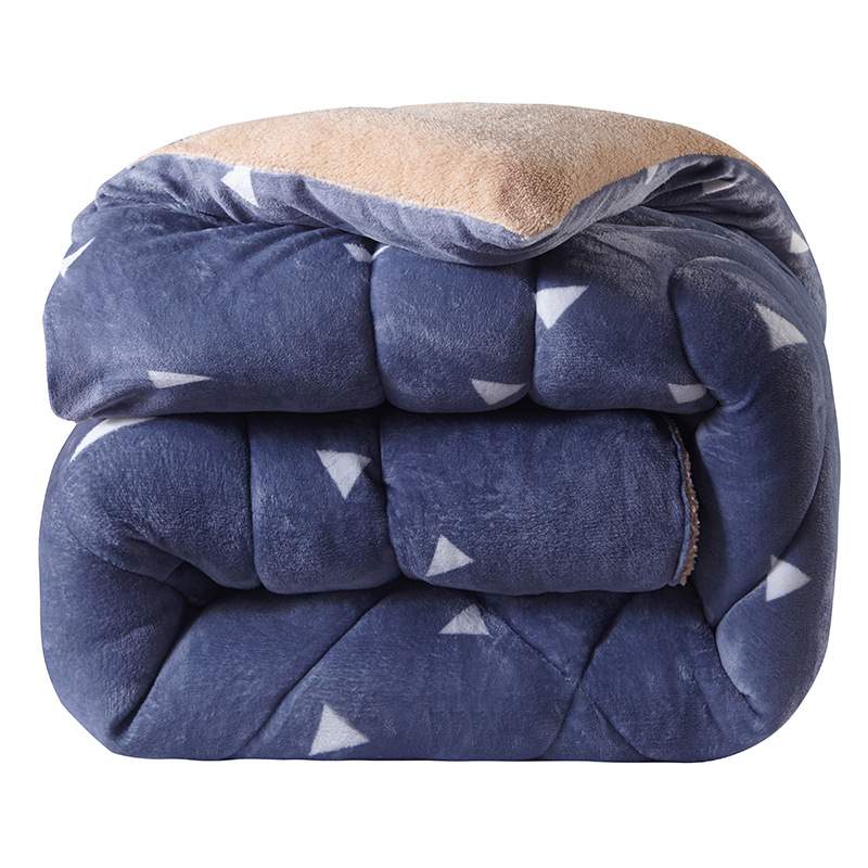 Sensible Thicken Winter Comforter Imitate Lambs Wool Warm Bed Duvet Camofleece Quilt Ab Side Camel Patchwork Quilts Home Textile Flannel