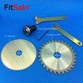 FitSain-4 hoja de sierra circular de cortadora de madera de corte de disco adaptador de acoplamiento bar varilla de conexión para el motor del Eje 5mm/ 6mm/8mm/10mm/12mm