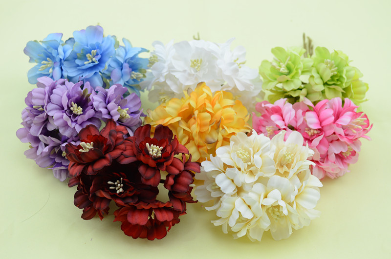 6pcsbunch 4cm artificial flowers hair accessories headdress wrist 6pcsbunch 4cm artificial flowers hair accessories headdress wrist flower head garland handmade diy materials decoration flower in artificial dried mightylinksfo