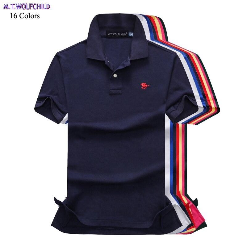 Fashion brand 2018 New Summer Mens short sleeve   polos   shirts casual small horse mens solid color   polos   shirts mens slim tops