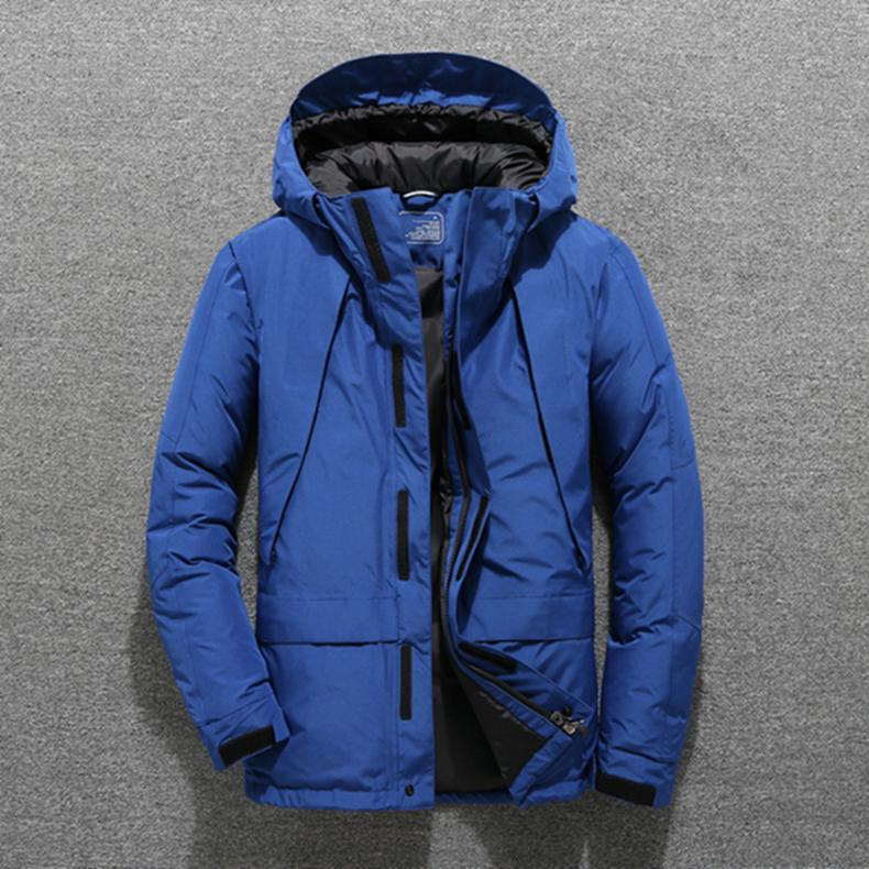 Mens Hooded Thick Duck   Down   Jackets Man Short Winter   Down     Coats   Male High Quality Overcoats Keep Warm Outerwear Parkas JK-803