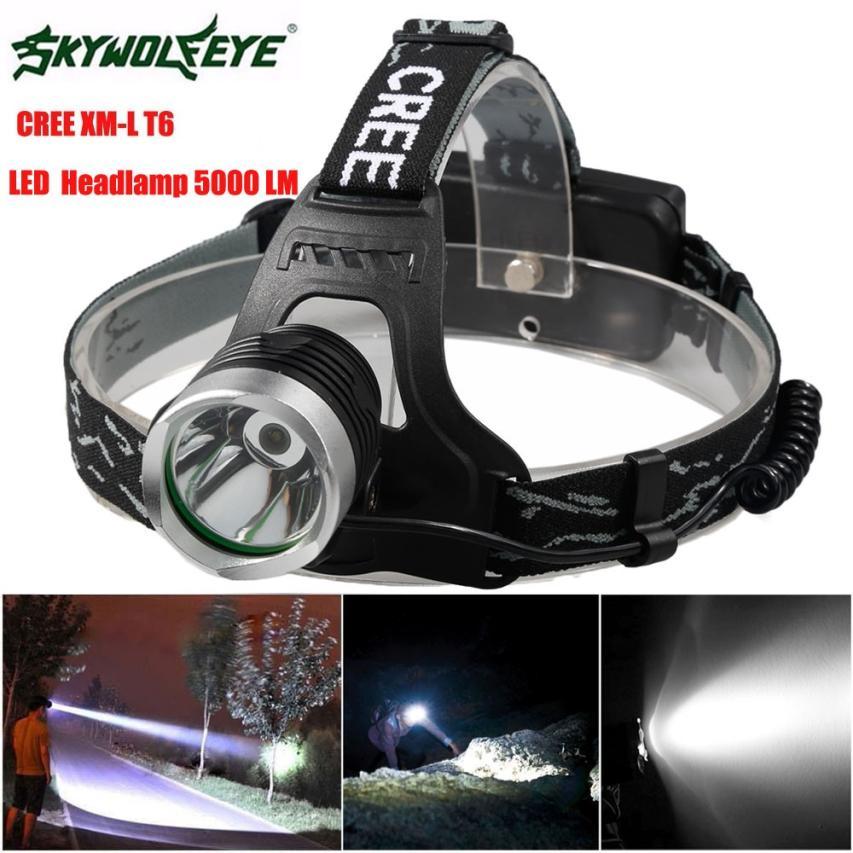 DC 29 Shining Hot Selling Fast Shipping 5000 Lm CREE XM-L XML T6 LED Headlamp Headlight flashlight head light lamp 18650 фонарик ultrafire cree xm l t6 xml 1000lm 18650